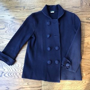 Jcrew navy sweater blazer